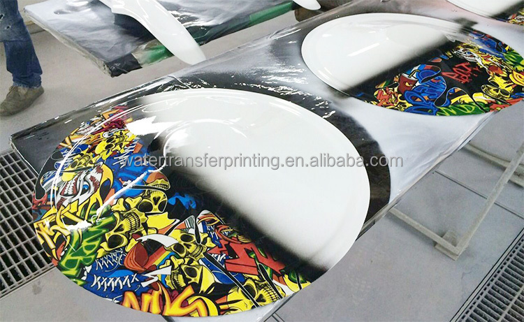 printable water transfer printing Hydrographic technology Fantastic Naughty Cartoon Skull GWR004, width 100 cm