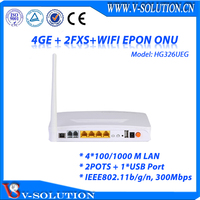 4GE+2FXS+USB Port+WiFi EPON ONU Wireless Triple Play Device Supported Bridging Route