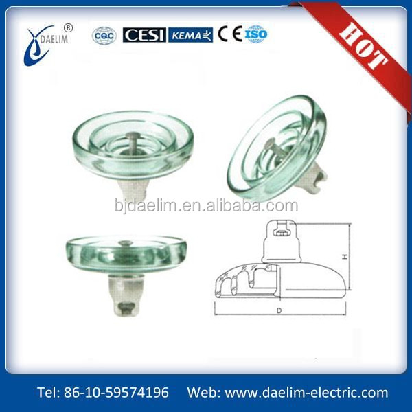 22kv Toughened Glass Insulator with high voltage