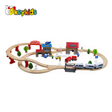 Wholesale funny children wooden electric toy train sets best kids wooden electric toy train set W04C048