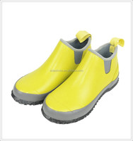 2015 OEM Factory Cheap Rubber Low Cut Yellow Garden Boots G2183