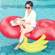 2018 Inflatable cherry inner tube pool float durable vinyl inflatable cherry lounge island swim raft toys for adult