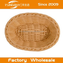 2015 hot selling artisan 100% woven plastic washable rattan kitchen basket ahmedabad