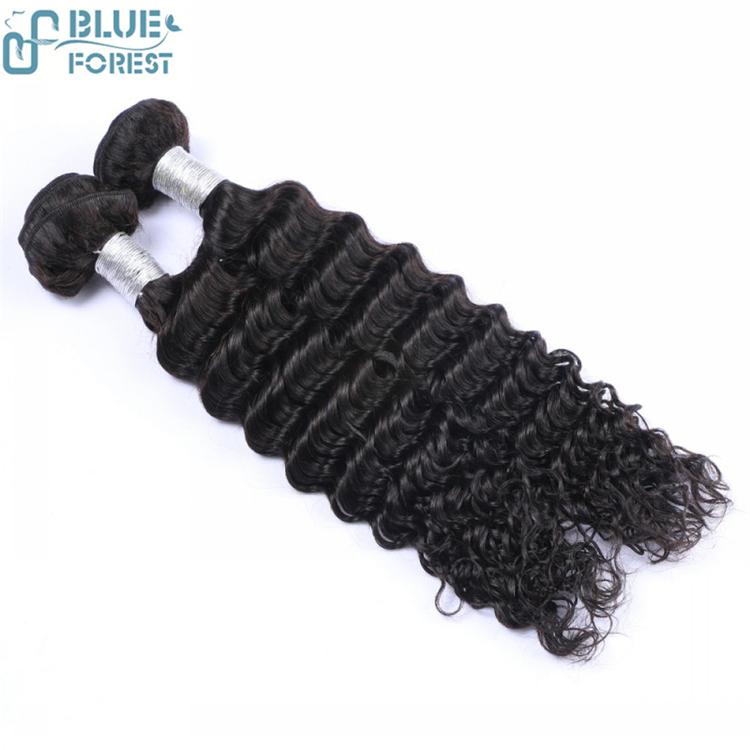 Remy Deep Wave Hair Weave Natural Color for Africa black women 30 inch remy human hair weft extensions