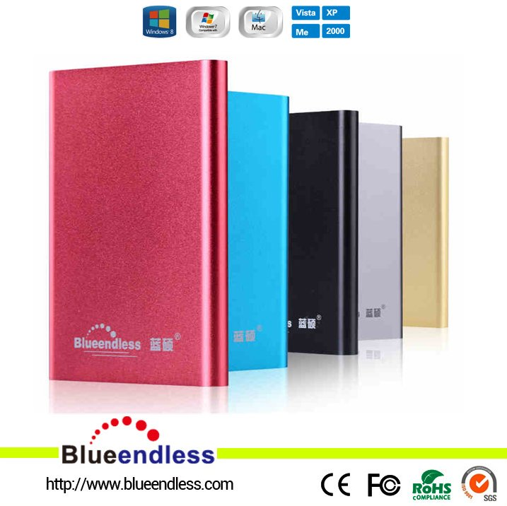 "2.5 Inch SATA Aluminum 9.5mm External HDD Case 2.5"" USB3.0 To SATA3 JMS578 Chipset SSD HDD Enclosure Support UASP 2TB"