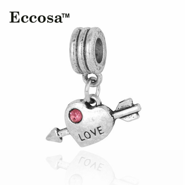 Import China Products Wholesale Cheap Alloy Heart Shaped Floating Hanging Charms Pendant For Lover beads for jewelry making