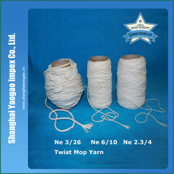 recycled/regenerated twist yarn for mop