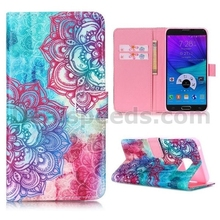 Cross Pattern Wallet Magnetic Flip Stand TPU + PU Leather Shell for Samsung Galaxy Note 5