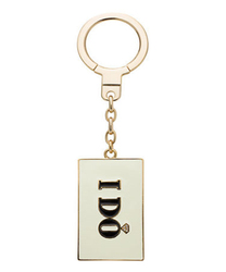 I DO I DID double sided letter keychain inspirational word keychain bag purse clip key ring clips