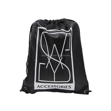 Promotional Wholesale Cheap Custom Printed Gym Sports Backpack LDPE Plastic Custom Drawstring Bags with Logo