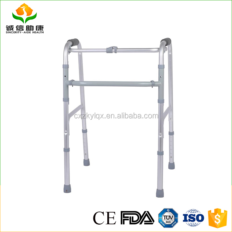 Alibaba express popular cheap H lever 6 gears can be adjusted different types of aluminium folding walker