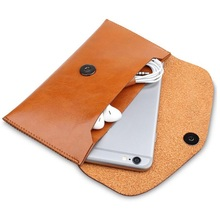 Luxury genuine leather cell phone pouch