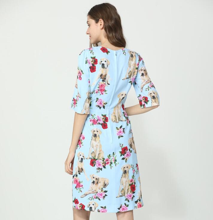 2019  New Listing Fashion Animal Print Women Party  Dress