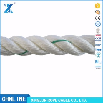 3-strand polyester rope rigging