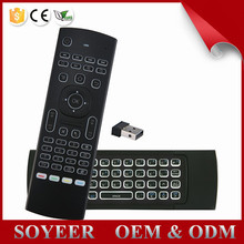 Soyeer Factory Supplie Mx3 Air Mouse Backlit 2.4G Built In Aaa Battery Mx3