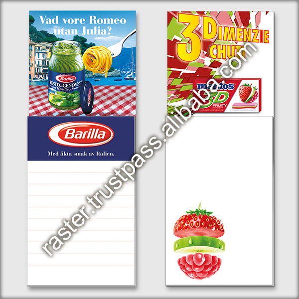 Promotional 3D print lenticular notepad with magnetic back / custom fridge magnet