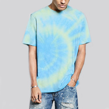 dongguan wholesale price cheap all-over tie dye print t shirt with good quality