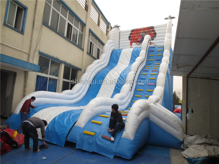 giant inflatable water slide /spiderman bouncer slide for adult