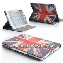 Retro Vintage Union Jack Leather Stand Case Cover for Apple iPad Mini 2 iPad Air