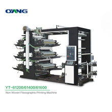 YT-61200 non woven six color fabric flexo printing machine