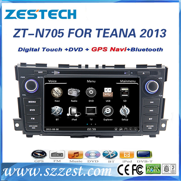 Car dvd gps for Nissan Teana 2013 factory navigation system double din ZESTECH oem car radio player
