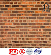 Customized size cut to shape old red brick