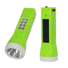 Solar Energy and charging led torch light with 8 SMD Sidelight