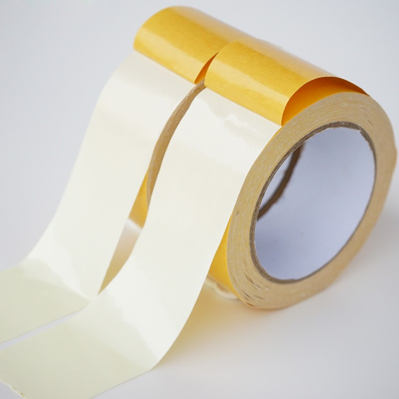 50 mesh 230mic hot melt glue double sided high self adhesive carpet edge tape for carpet seaming and fixed