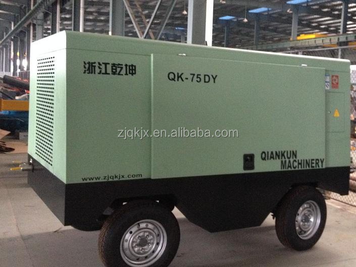 Qiankun hot sale screw type portable electric air compressor