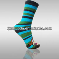 fashion design cartoon picture without heel baby socks