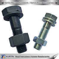 hot dip galvanized boiled black hex bolt and nut for machine equipment