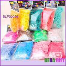 Crazy loom bandz wholesale 600pcs rubber band bag cheap solid color make rubber band bracelet