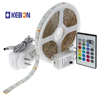 DC12V Blister Package OEM Epistar Multi Color RGB 5050 LED Strip Kit