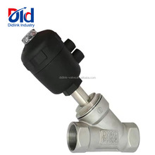 RF Sanitary Stainless Steel Pneumatic Angle Seat Valve