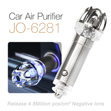 JO-6281 High Voltage Luxury Crystal Diamond Decorated Ionizer Car Air Purifier For Cars