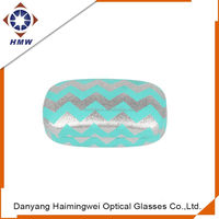 custom fancy contact lens case, flip top glasses case