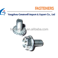 Hardware Galvanized Hexagonal Flange Bolts With