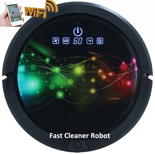 Wi-Fi Smartphone App Control Wet and Dry <strong>Vacuum</strong> Cleaner Robot With 150ML Water Tank