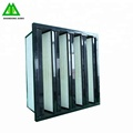 Industrial high efficient 99.99% ABS Plastic frame V bank combined hepa air filters