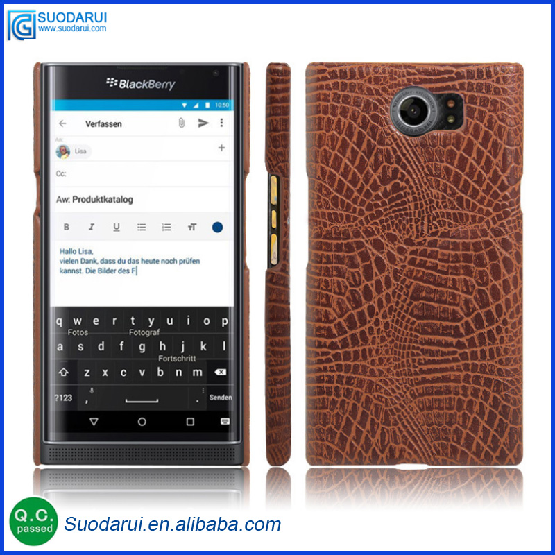 Cell phone cover For blackberry priv Leather + PC Hard Case Mix Colors In stock
