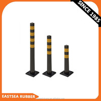 Black Color Polyurethane Plastic Traffic Parking City Bollard [Square Base]