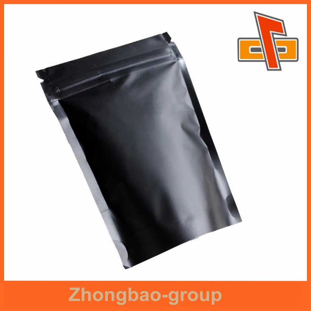 Popular Laminated Custom Printed Black Mylar Bags With Zip