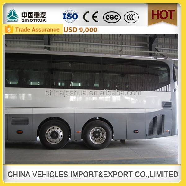 CHINA SINOTRUCK HOWO high quality passenger bus coach luxury bus design 60 seater bus