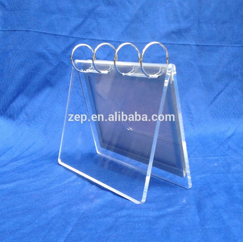 Flip Plastic Menu Sign Holder For Calendar Acrylic Table Tent Display