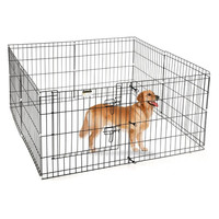High Quality 48 Inch Dog Playpen Exercise Pen Large Metal Dog House / 8 panel Dog Playpen