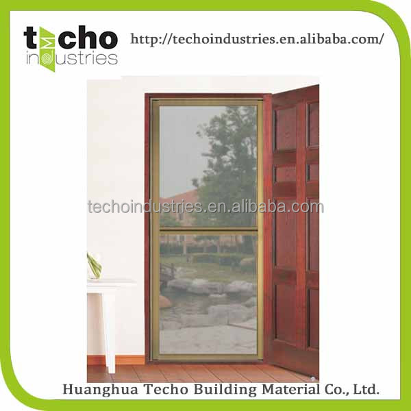 Aluminum Mosquito Folding Screen Door with Hinges Fixed