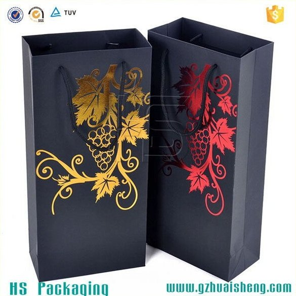 Guangzhou factory customized printed wine glass gift bags