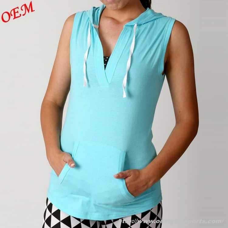 2018 womens cotton sleeveless hoodie