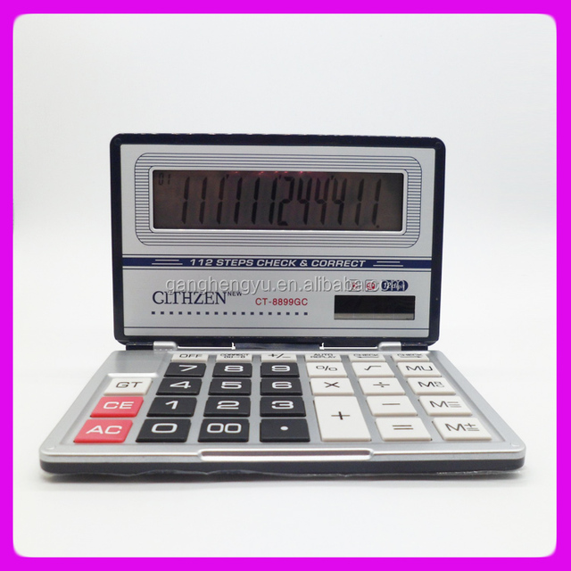 Novelty Office Business 112 Steps Check Correct Foldable Solar Desktop Calculator