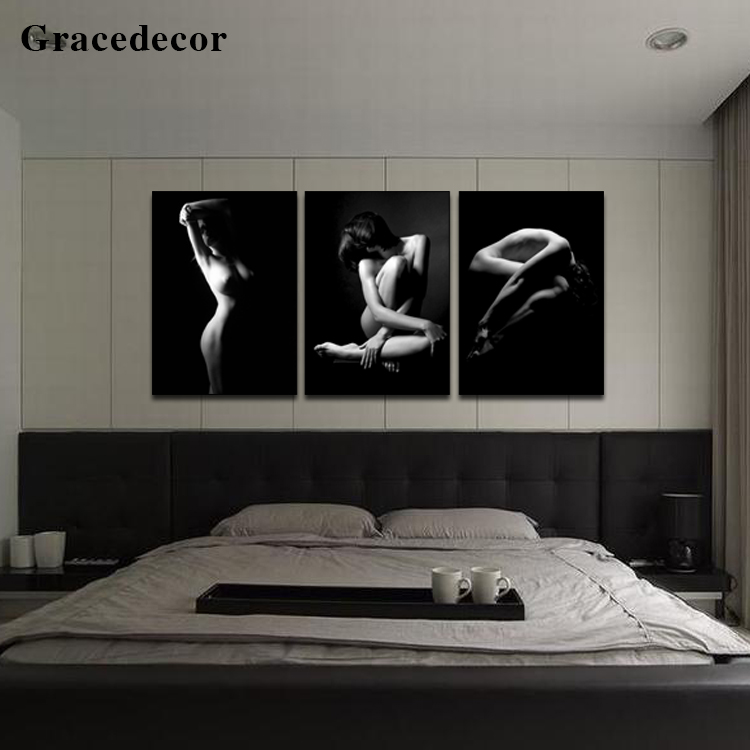 Latest Design Living Decoration Hot Sexy Girl Photo Nude Girl Nude Acrylic Art Painting